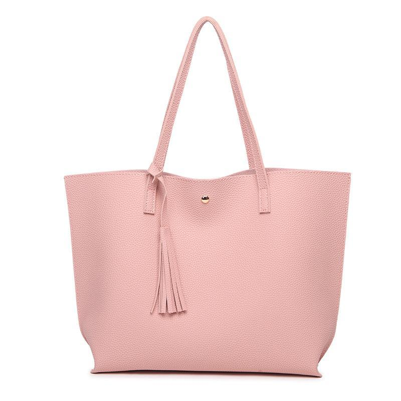 Leather Tassel Woman Hand Bag