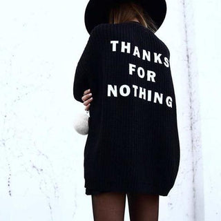 Thanks For Nothing Sweater
