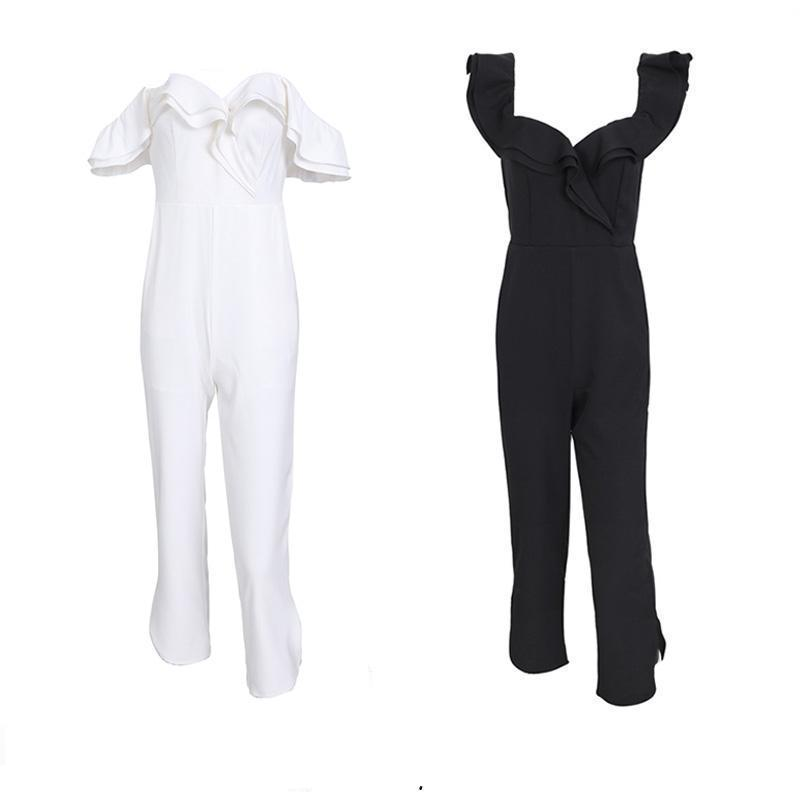 Tiered Off Shoulder Jumpsuits