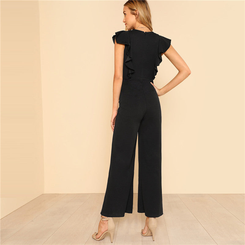 Neck Sleeveless Jumpsuits