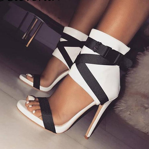 Miss Thang Patchwork High heel