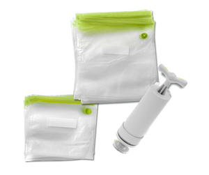 Reusable Vacuum Bags and Pump