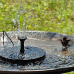 Solar Powered Bird Bath Fountain Kit