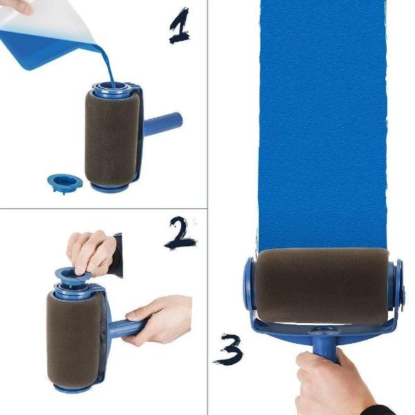 Drip-Free Refillable Paint Roller - 5 Piece Set