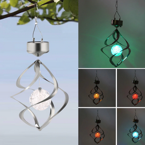 Solar Powered - LED Color Changing Wind Chime