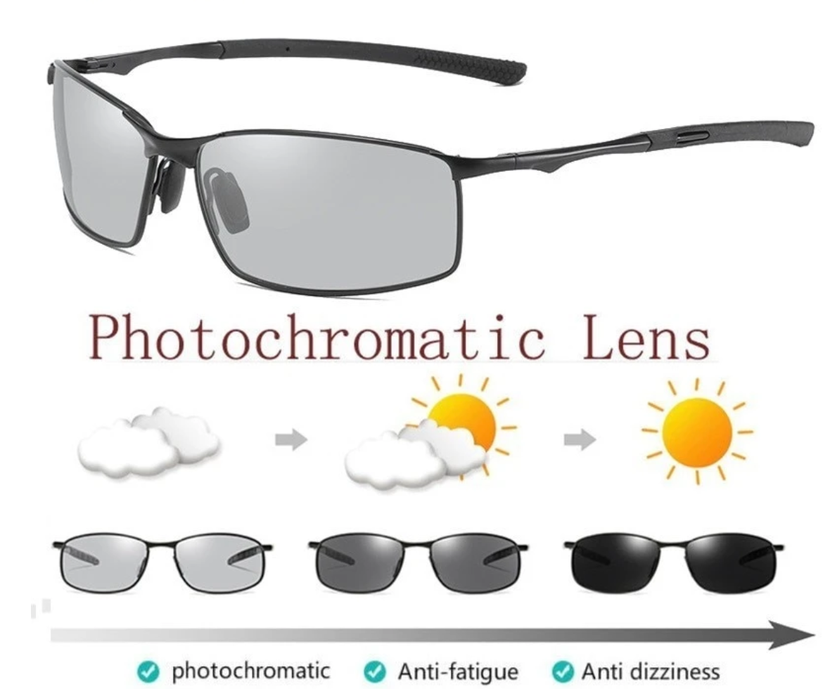 PHOTOCHROMIC SUNGLASSES WITH POLARIZED LENS