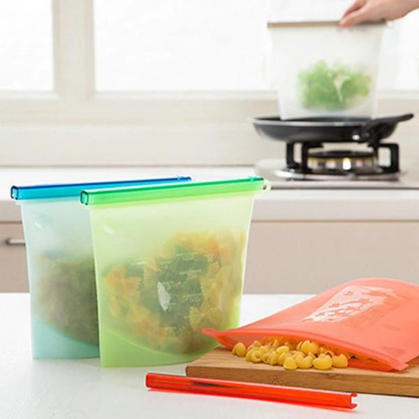 Zero-Waste Reusable Silicone Food Storage & Cooking Bags - 4pcs