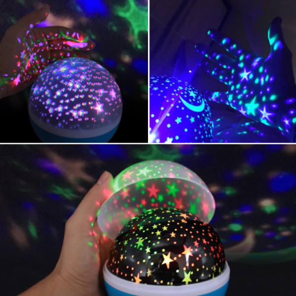 Starry Sky Projector Night Light w/ 360° Rotation