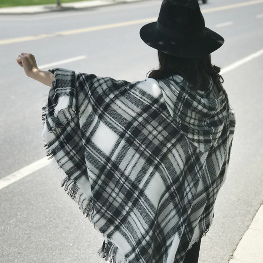 Womens Hooded Ponchos