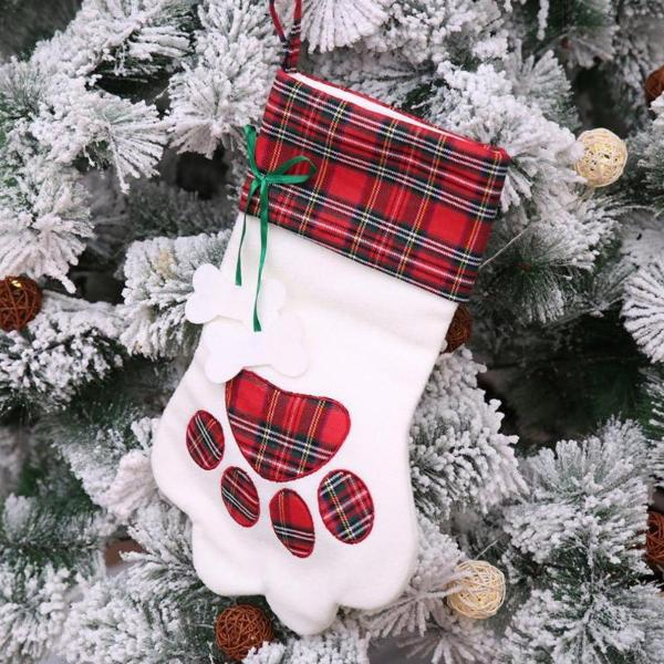 XL Paw Print Christmas Stocking