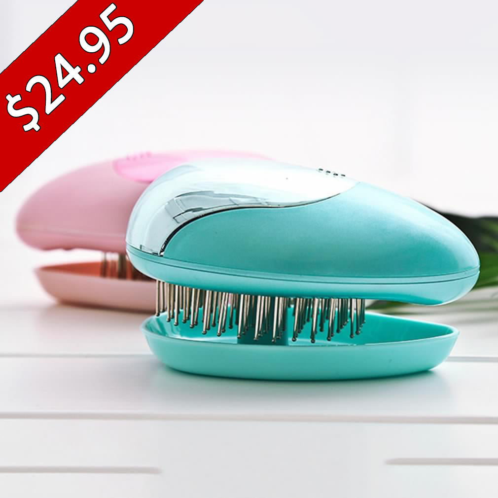 $10 OFF SPECIAL - Anti-Frizz Ionic Hairbrush