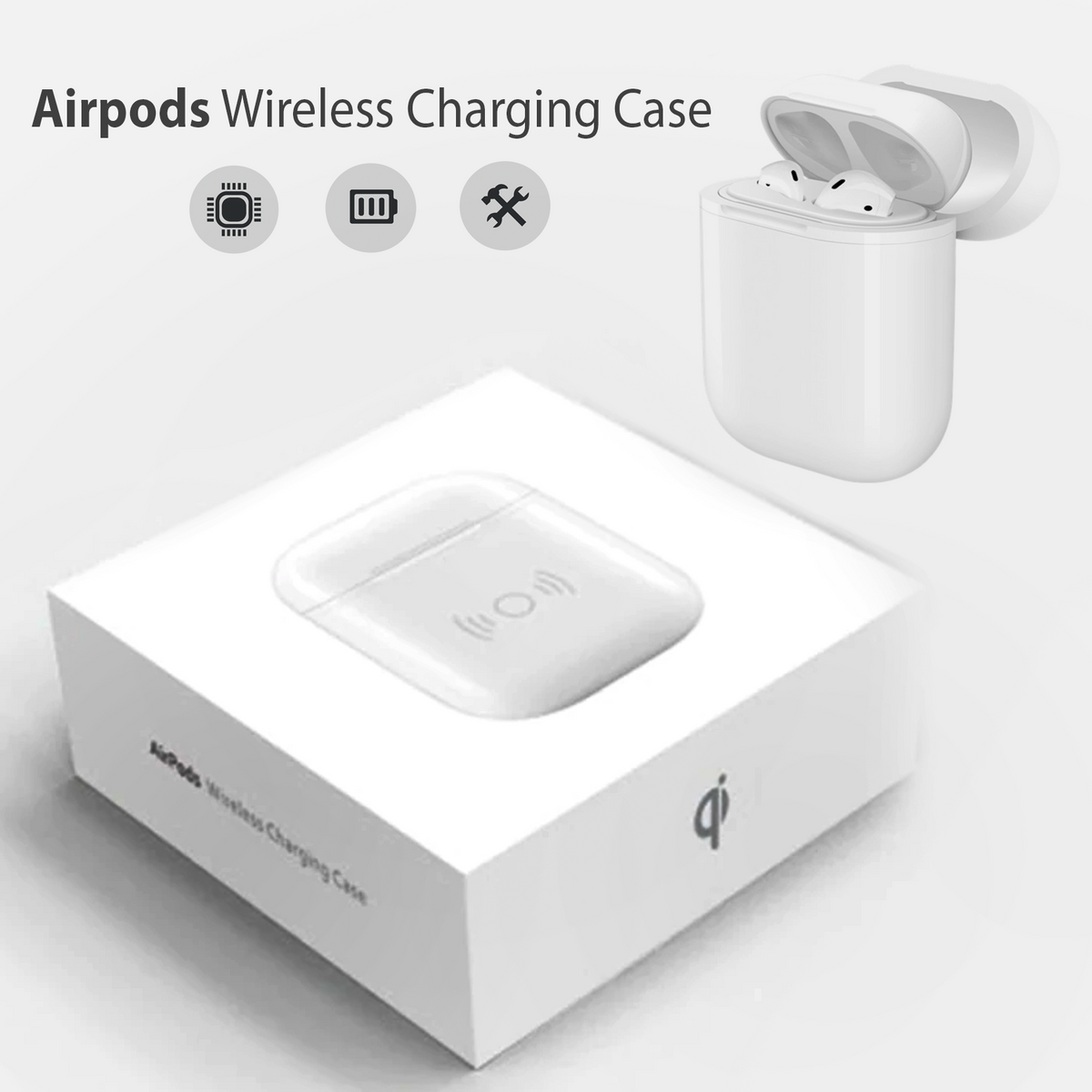 free shipping 003f8 d4040 Airpods Wireless Charging Case
