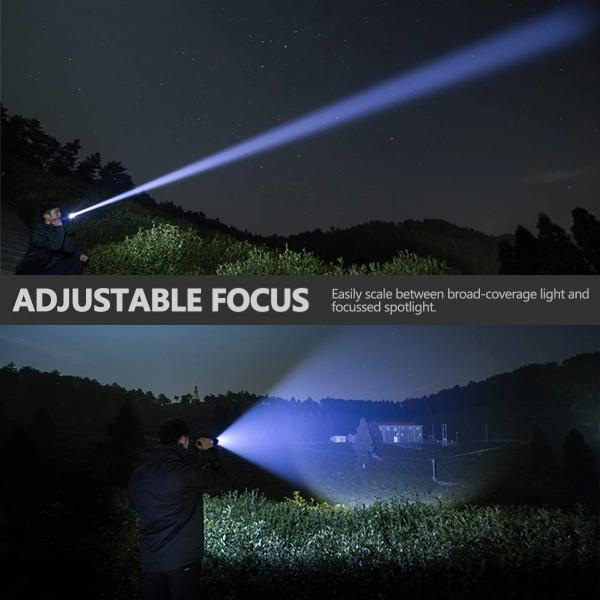 Worlds Strongest Tactical Zoom Flashlight