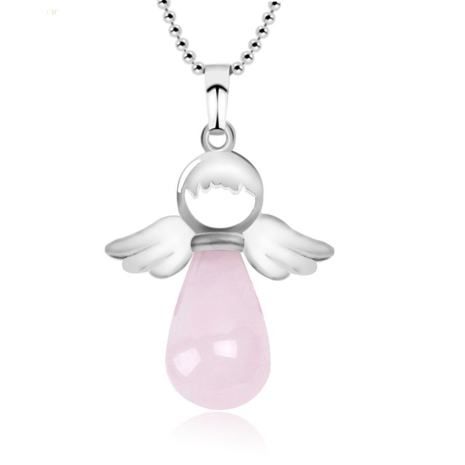 Crystal Guardian Angel Necklaces