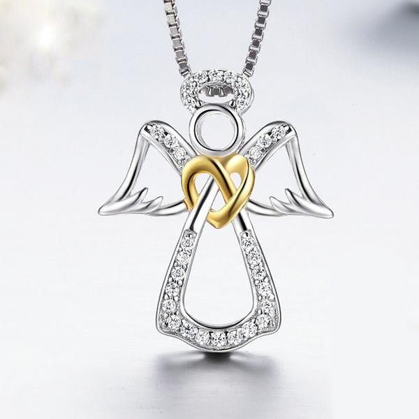 """Guardian Angel"" Sterling Silver Necklace"