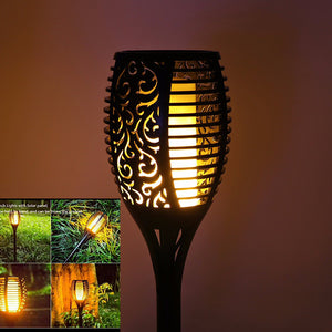 Solar LED Torch Lamp - Realistic Flame Solar Lamp - 1 Pcs