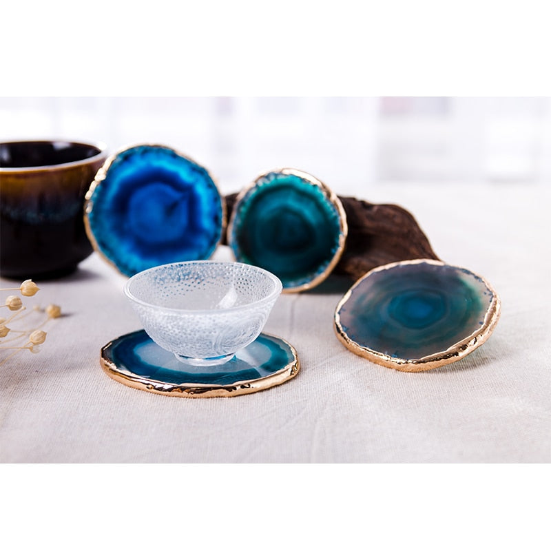 Agate Coaster 2 Pieces