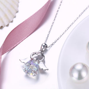 Guardian Angel Crystal Necklace