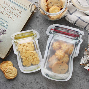 Reusable Mason Zipper Jar Storage Pouch Bags | Storefyi™