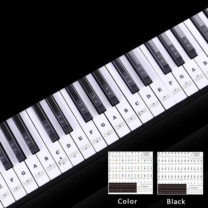 Ultimate Piano Key Stickers -49 / 61/ 76 / 88 Keys
