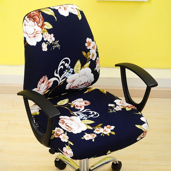 Decorative Slip-On Office Chair Cover