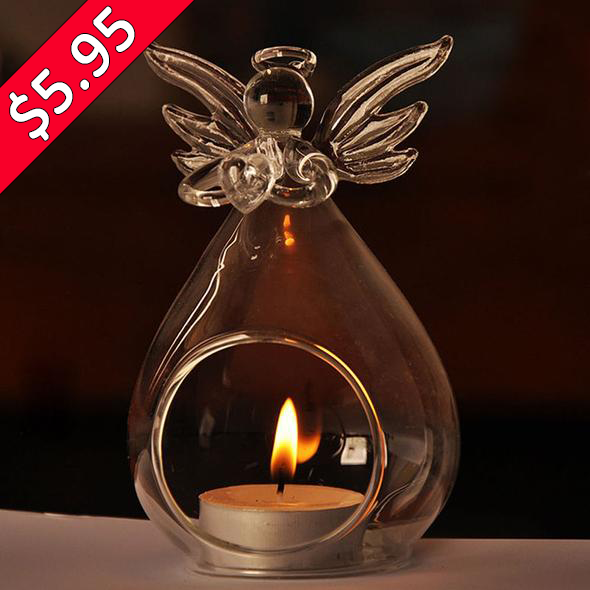"$3 OFF SPECIAL - ""Guardian Angel"" - Candle Holder"