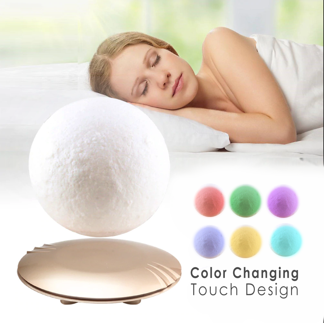 Luna - Orbiting Moon Night Light