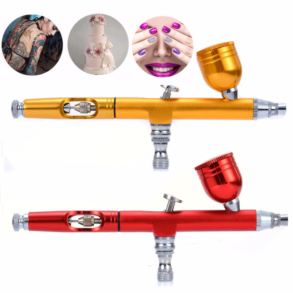 1pc Mayitr Airbrush Tool Dual Action Gravity Feed 0.3mm Nozzle Spray Airbrush - GTG