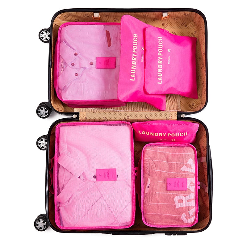 6pcs Women organiser Organizers Bag Clothes Sorting Luggage Travel Bags - GTG