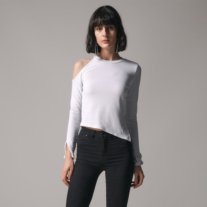 2018 Autumn Women Blouses Long Sleeve Split Knitted Tops Sexy Off Shouder Shirts Female Blusa Elegant Slim Solid Plus Size Tops - GTG