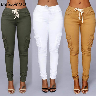 2018 Candy Colors Elastic Sexy Skinny Pencil Jeans For Women High Waist Denim Pants - GTG