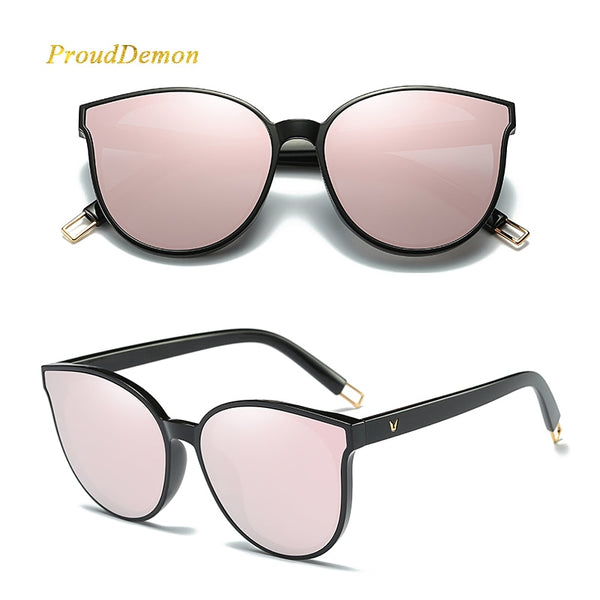 61ae63d2d ... 2018 Fashion Women Colour Luxury Flat Top Cat Eye Sunglasses Elegant -  GTG