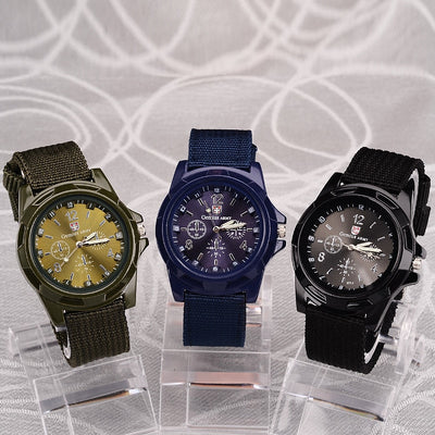 2018 Men Nylon band Military Army watch High Quality Quartz Movement Wristwatches - GTG