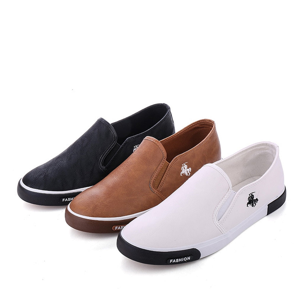 2018 Fashion Mens Outdoor Walking Shoes Flats Leather Shoes - GTG