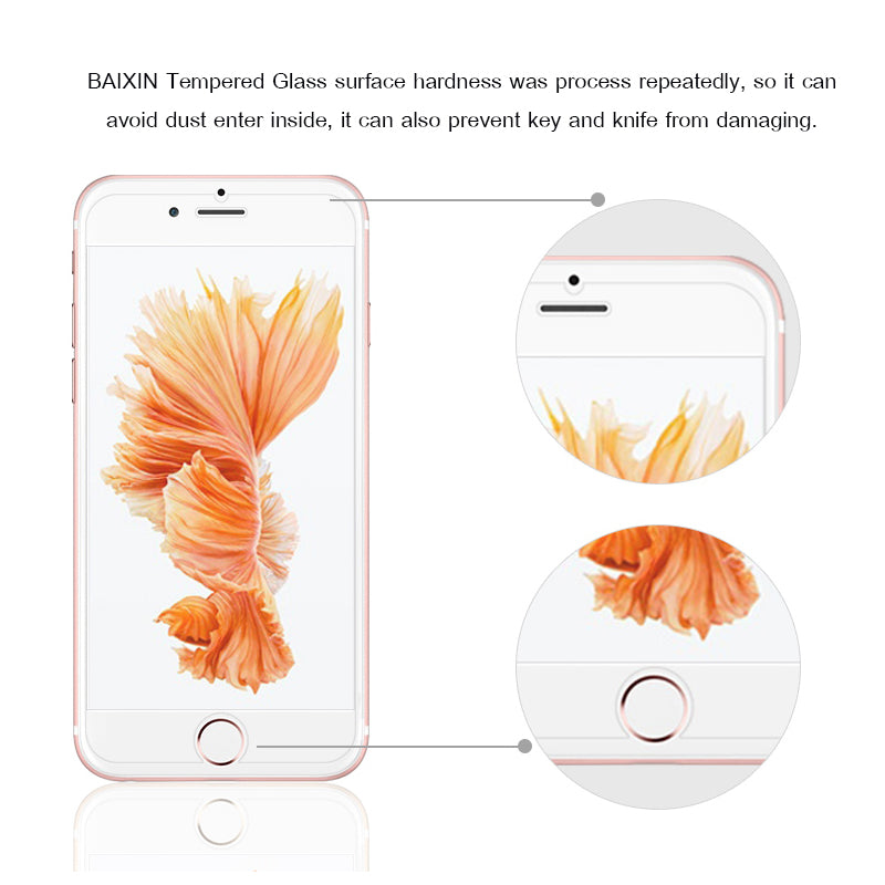 9H tempered glass For iphone plus screen protector protective guard - GTG