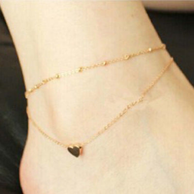 Vintage Silver Color 8 Shape Beads Barefoot Sandal Chain Anklet for Women - GTG
