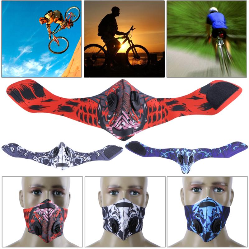 Carbon Cycling Mask MTB Road Bike Dustproof Cycling Riding Running Sports Mask - GTG