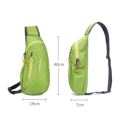 New Unisex Waterproof Nylon Chest Bag Men Women Running Shoulder Bag - GTG