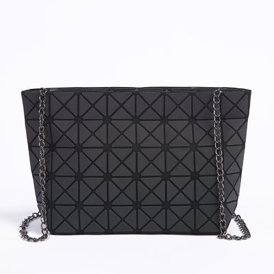 New Women Chain Shoulder Bag Luminous Fashion Geometry Folding Crossbody Bags - GTG