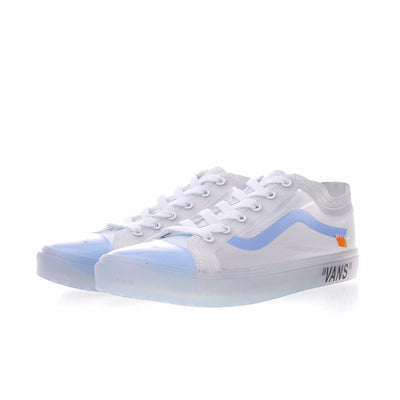 Original New Arrival Vans X OFF-WHITE Men's & Women's Classic Old Skool Low-top Skateboarding Shoes Outdoor Sneakers VN-OXH7DVD - GTG