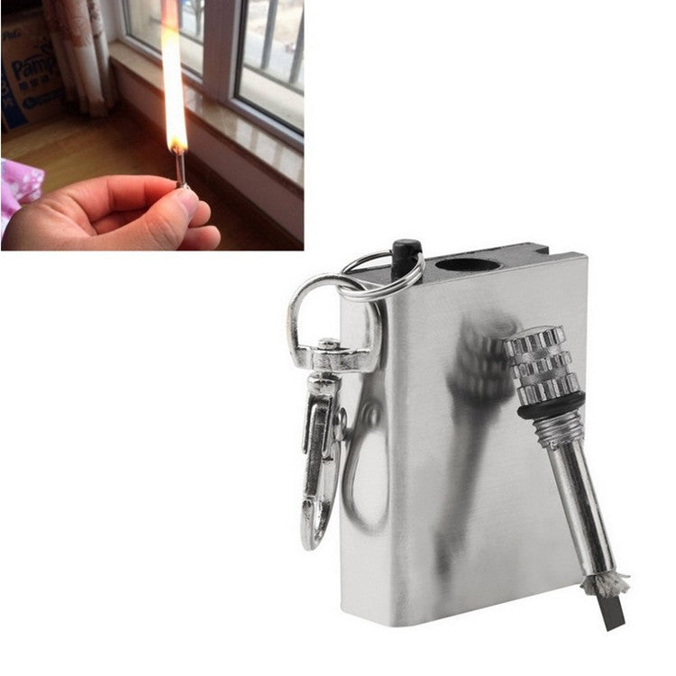 Emergency Fire Starter Flint Match Lighter Metal Instant Survival Tool Safety Durable - GTG