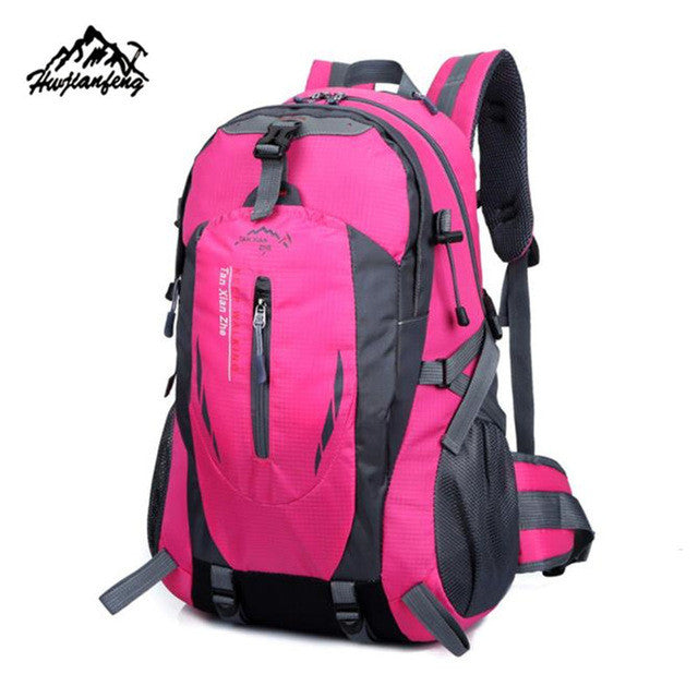 40L Outdoor mountaineering bag Hiking Camping Waterproof Nylon Travel Rucksack - GTG