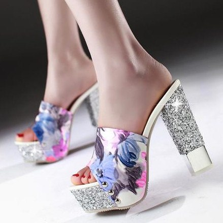 Sexy Ultra high heels wedding shoes open toe high quality ladies shoes - GTG