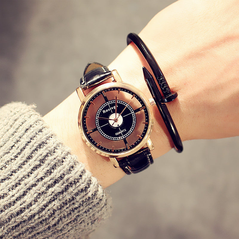 Hollow Exo watch men and women students simple fashion trends personality WristWatch - GTG