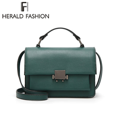 Women Leather Messenger Bags High Quality Women Handbag Small Flap Bag - GTG