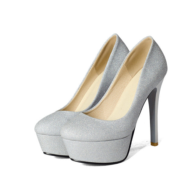 New spring autumn women pumps round toe shallow prom shoes - GTG
