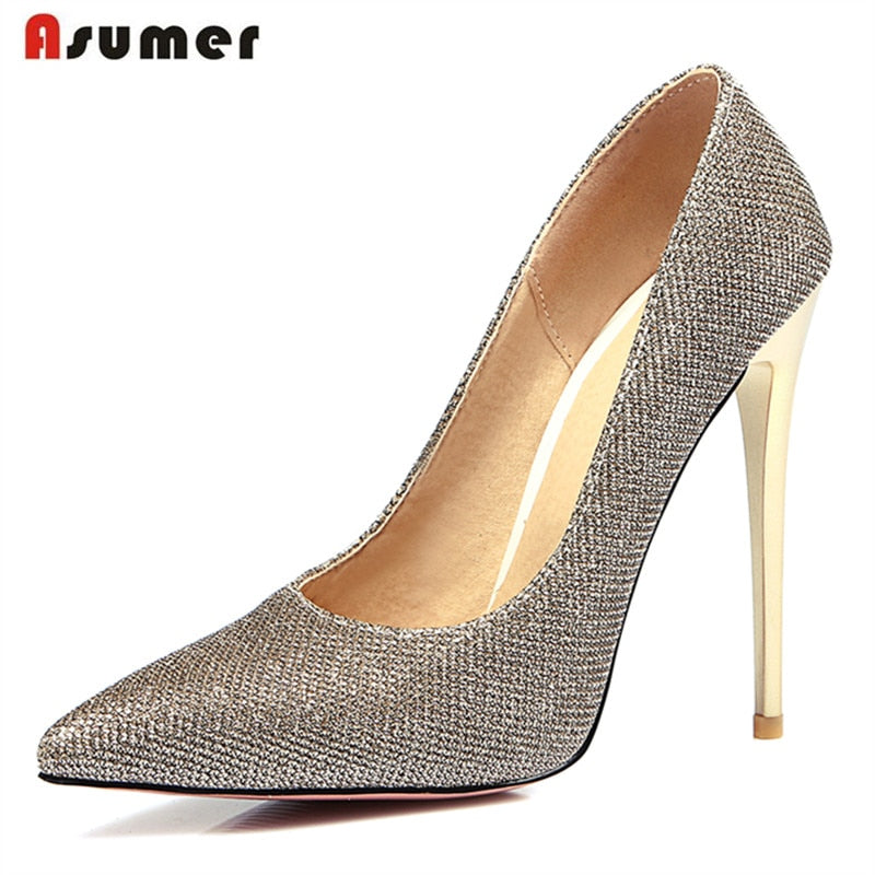 2018 Hot sale women pointed toe high thin heels office lady work shoes - GTG