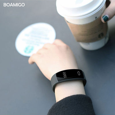 BOAMIGO bracelet wristband bluetooth heart rate Sleep Monitor for IOS Android phones - GTG