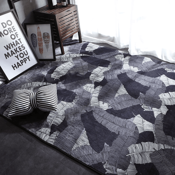 black and white geometric rug Steg