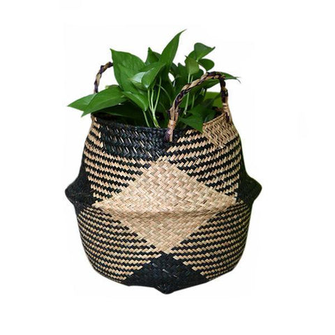 WooCar Black - Extra Large Woven Basket